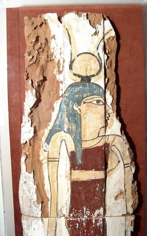 17: Huge Egyptian wood panel from a sarcophagus