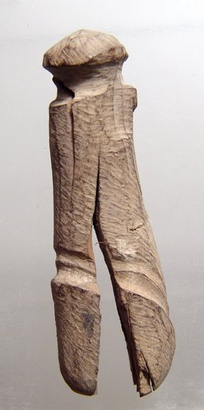 21: Egyptian wood votive penis, Ex Alex Malloy