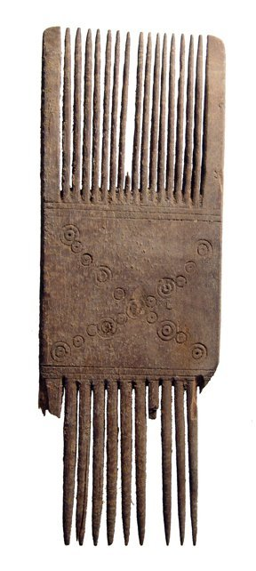 22: Coptic wooden comb from Egypt