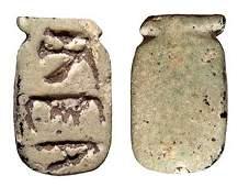 69: New Kingdom scaraboid, cartouche