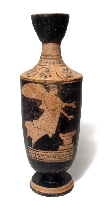 152: Attic Red-Figure Lekythos, Ex Royal Athena.