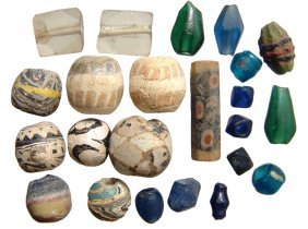 11: 23 mixed glass beads, Roman - Islamic