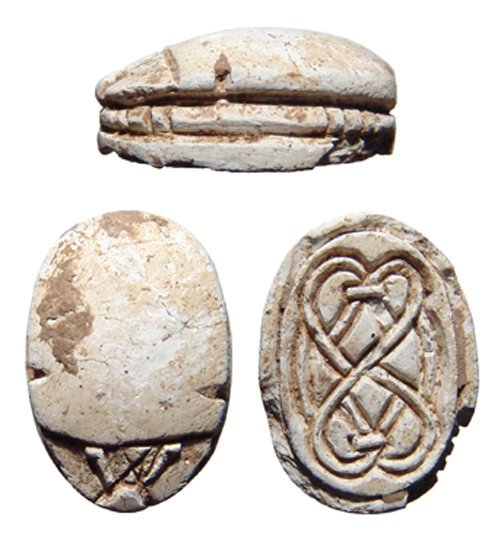 12: Egyptian Late Middle Kingdom steatite scarab
