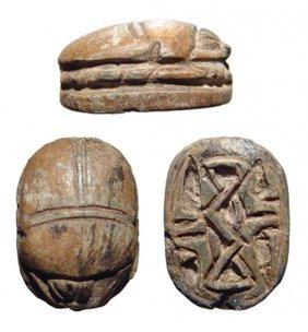 14: Middle Kingdom scarab, Ex Royal Athena Galleries
