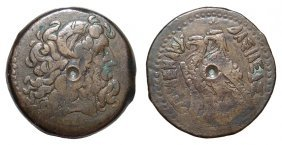 20: Ptolemaic Egypt bronze coin, Ex Royal Athena