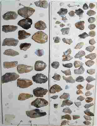 Lot of 77 European stone age tools