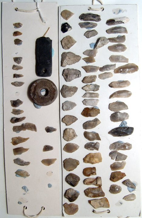 Lot of 74 European stone age tools