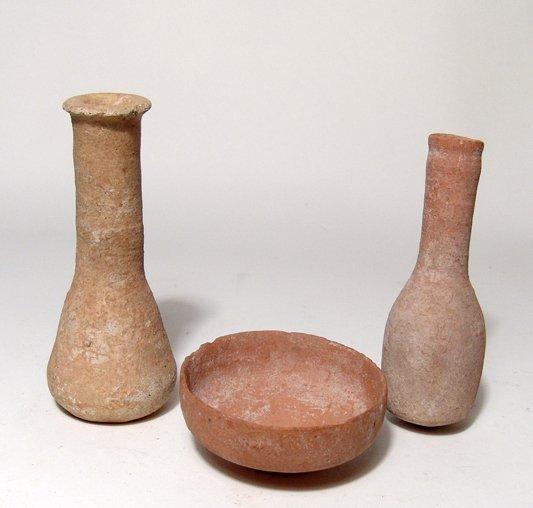 Lot of 3 Greek ceramic vessels