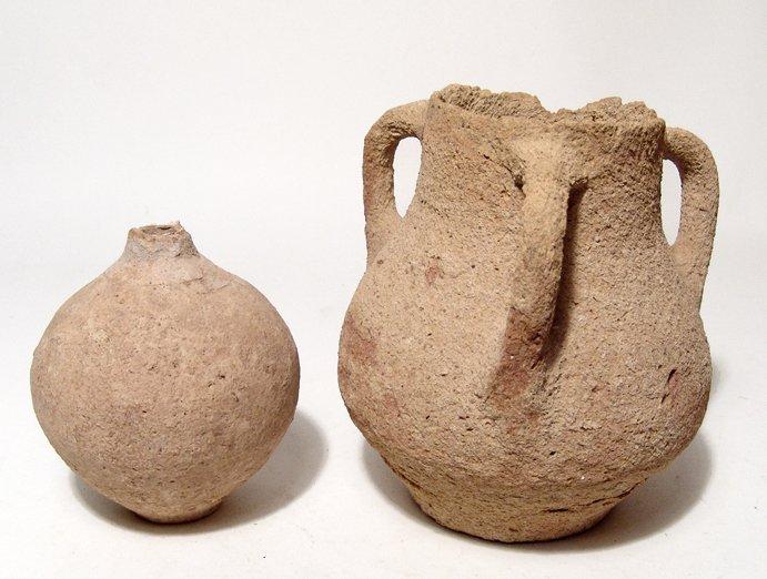 Lot of 2 ancient ceramic vessels
