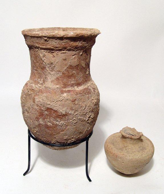 Lot of 2 Roman ceramic vessels