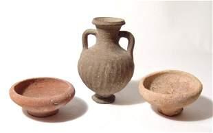 Lot of 3 ancient ceramic vessels