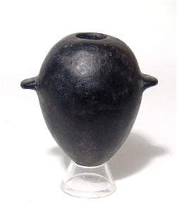 Predynastic black-ware cosmetic jar, Naqada II