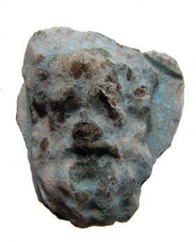 Graeco-Roman faience plaque with Dionysos