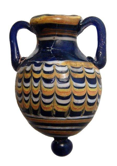A choice Greek glass Amphoriskos