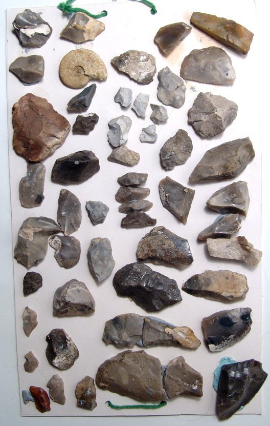 A lot of 51 European stone age tools