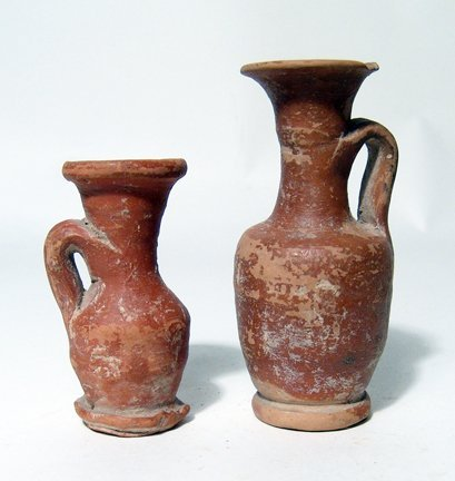 Lot of 2 Greek Votive Lekythos