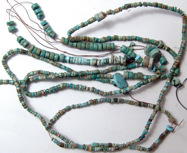Pair of Turquoise bead bracelets and a necklace