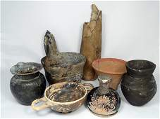 7 pieces of mostly Greek pottery