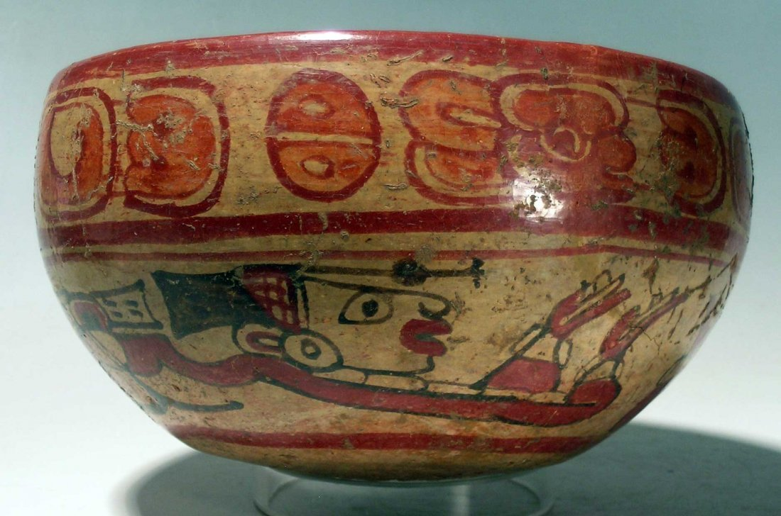 Maya polychrome bowl from El Salvador
