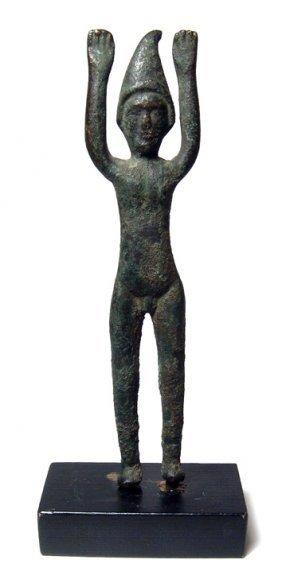Italic / Etruscan bronze male votive