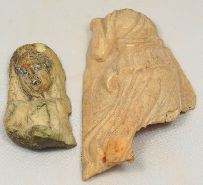 A group of 2 Roman bone carvings