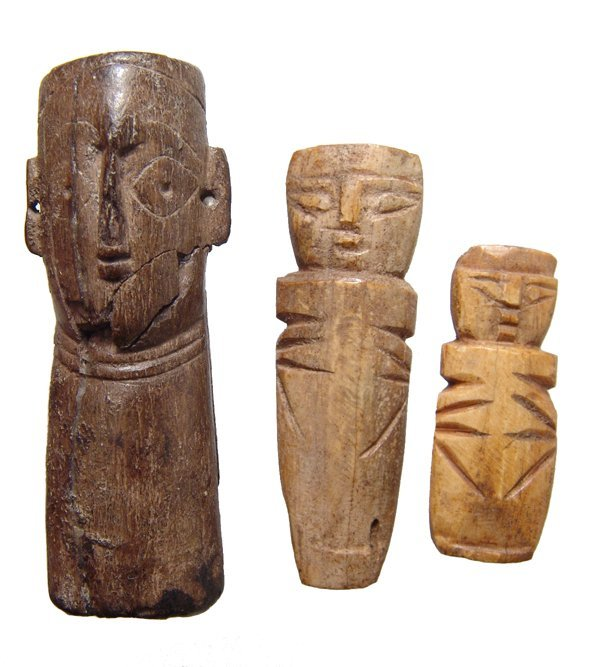 A lot of 3 Coptic Bone Dolls
