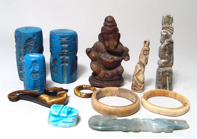 12 Grand Tour and Later Egyptian/Asian Pieces