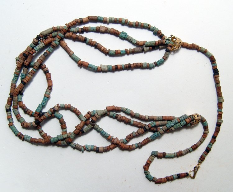 Egyptian multi-colored beaded necklace