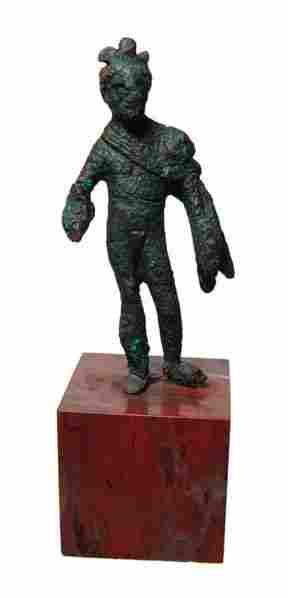 Small bronze figure of Genius