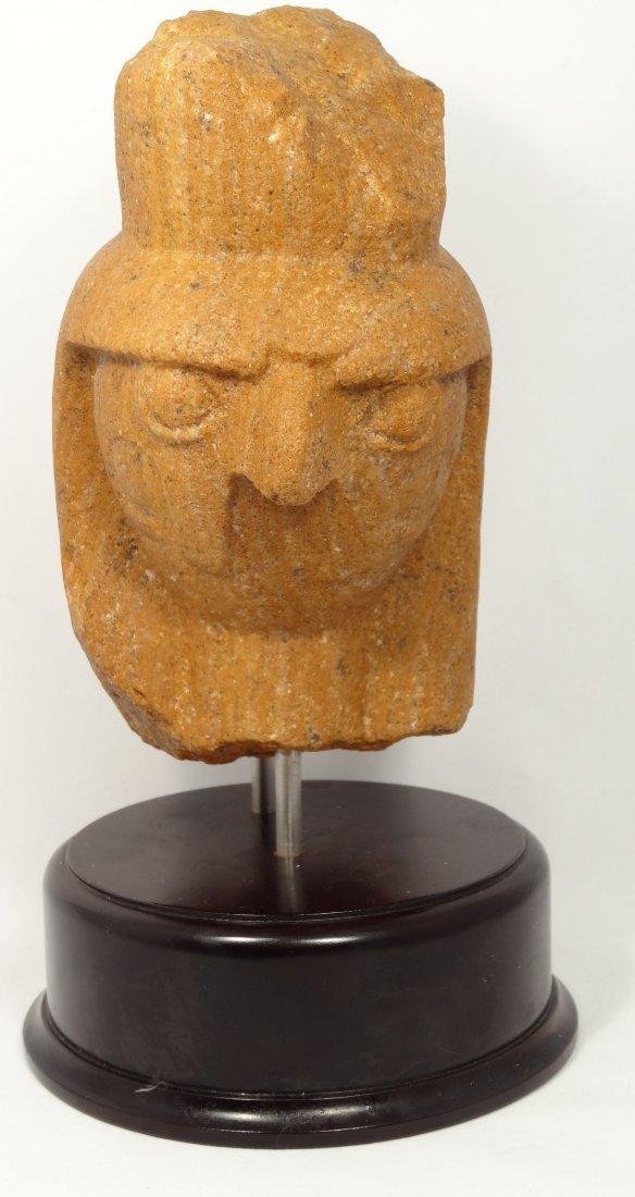 Fantastic Quartzite Head of Horus Rameses cartouche