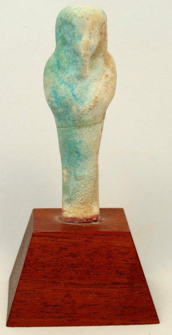 Light blue faience ushabti