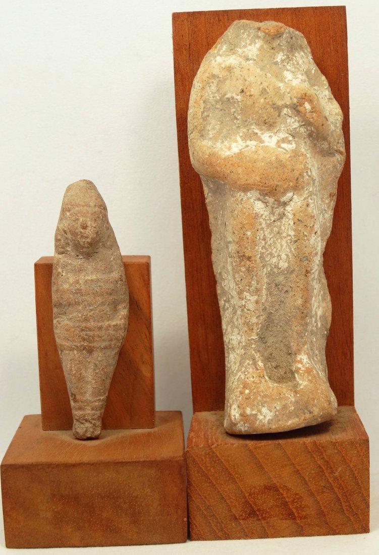 2 Near Eastern terracotta votive figures