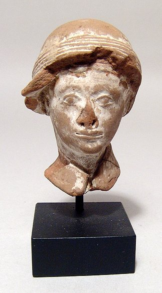 A Hellenistic terracotta head of a man