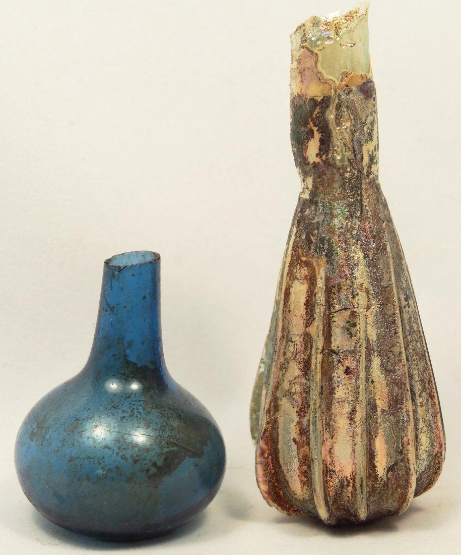 Lot of 2 Roman Glass vessels