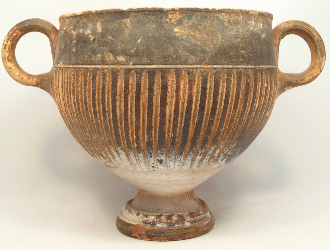 Greek footed cup, Magna Graecia, 4cBC ex Lord Kitchener