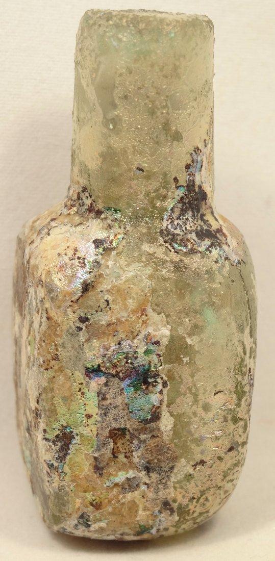 Light blue Islamic glass ointment vessel