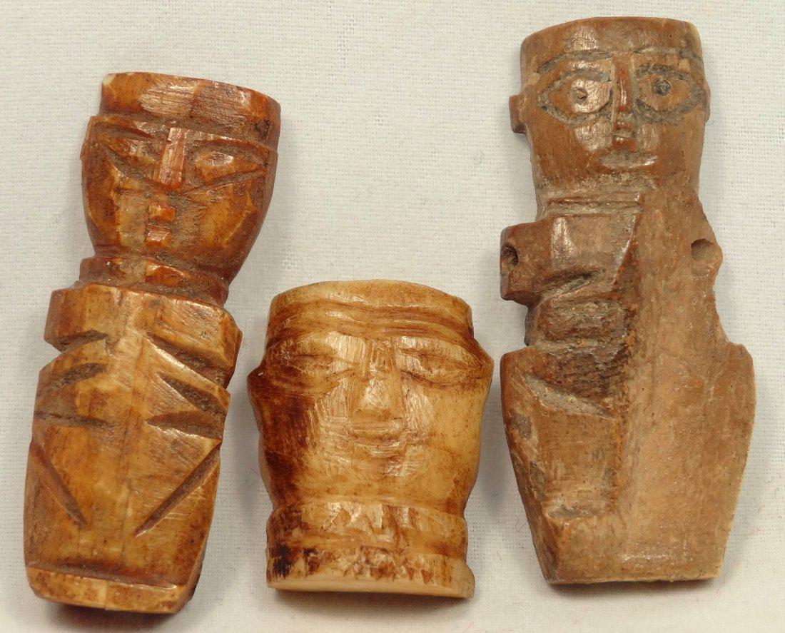 3 Coptic Bone Dolls, Roman Egypt