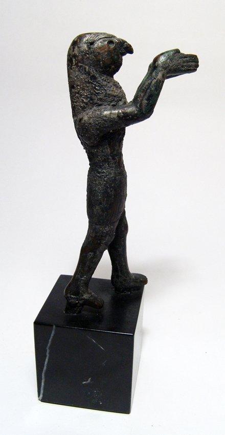 A Phoenician bronze figure of Horus