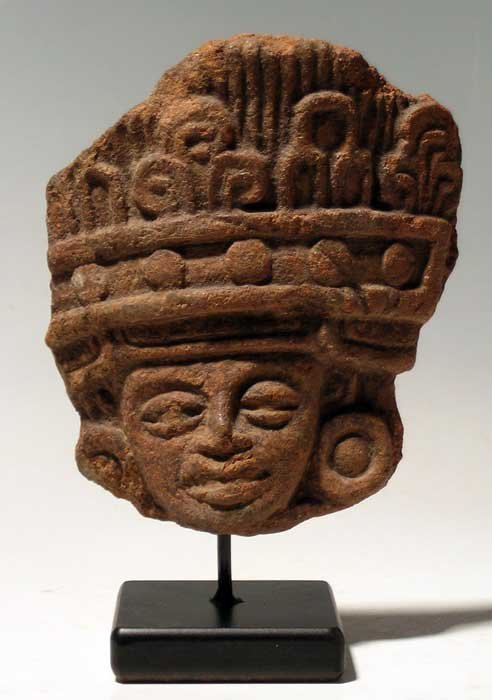 Large Teotihuacan head fragment from Mexico