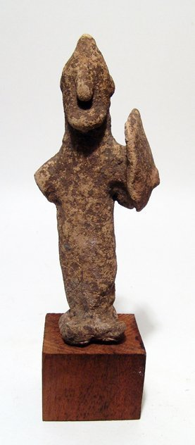 Cypriot terracotta figure of a warrior