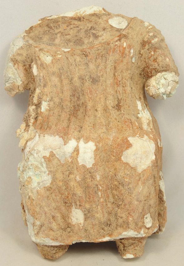 A Sabaean fragmented gypsum figure of a woman