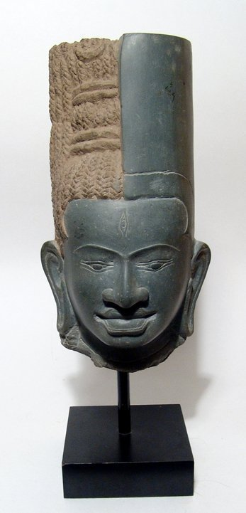 A Nice Khmer-style Cambodian head of a Divinity