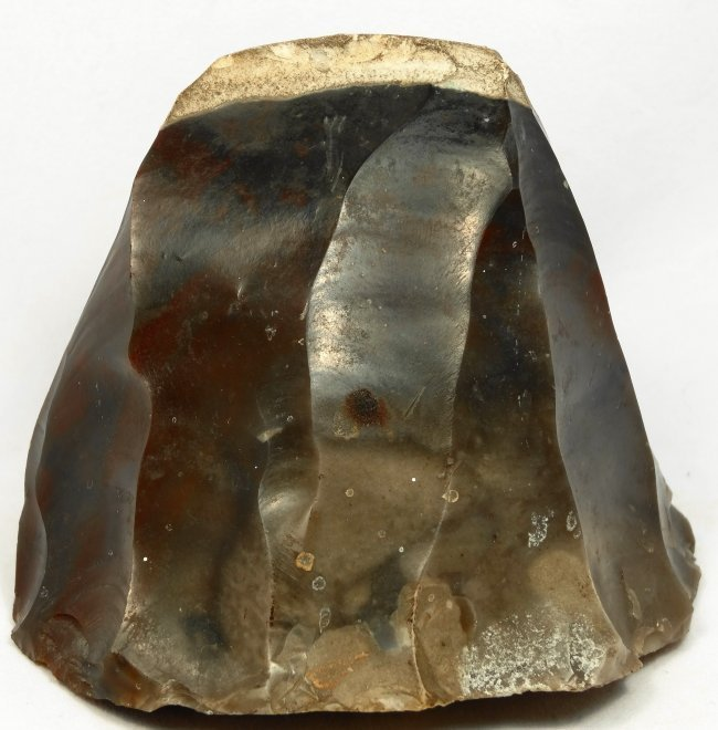 An obsidian core from blade napping