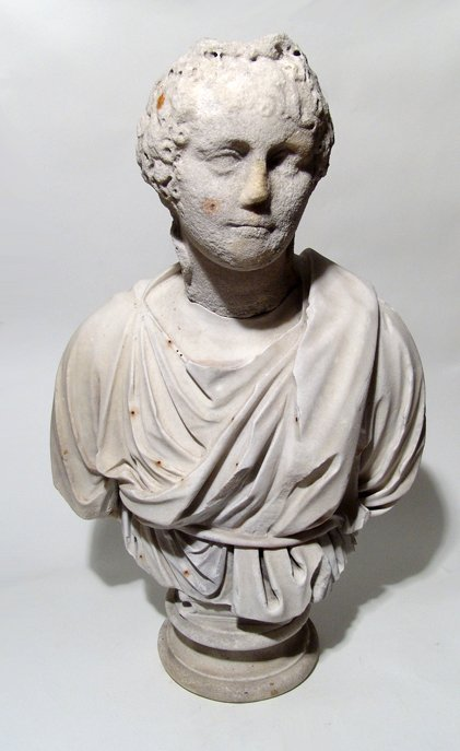 A life-size Graeco-Roman marble bust of a man