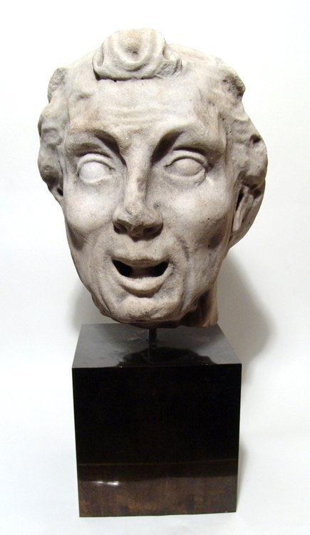 Ancient Roman Marble copy of Hellenistic Old Woman