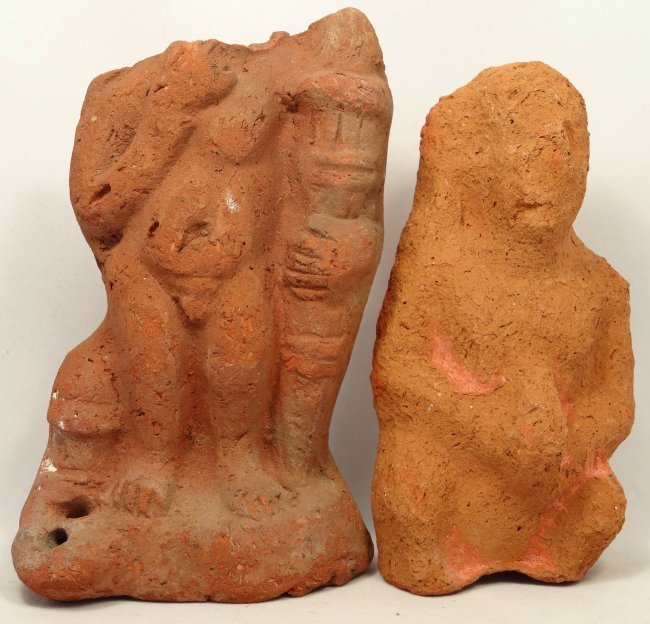 2 terracotta figures of Harpokrates