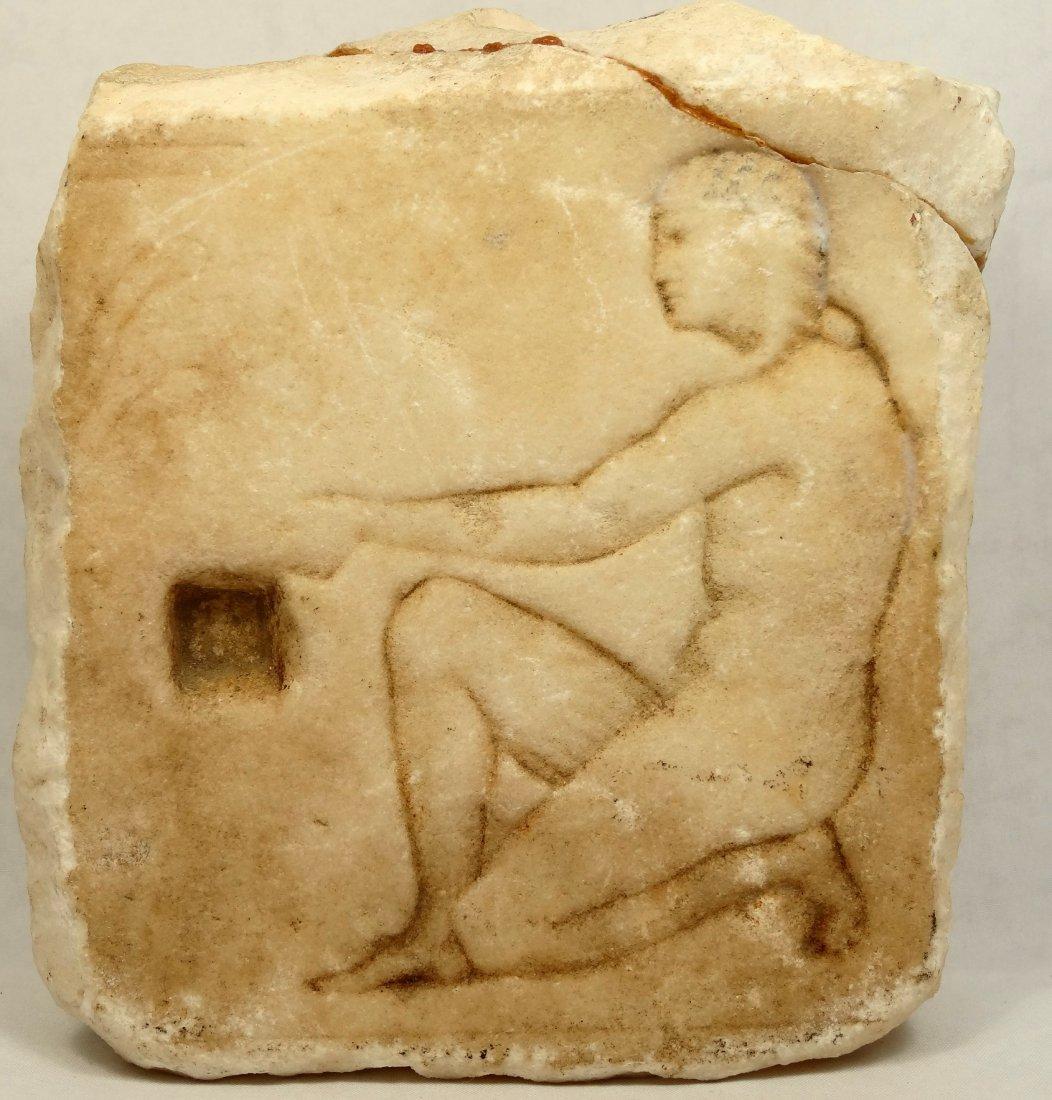 Romano-Egyptian limestone stele