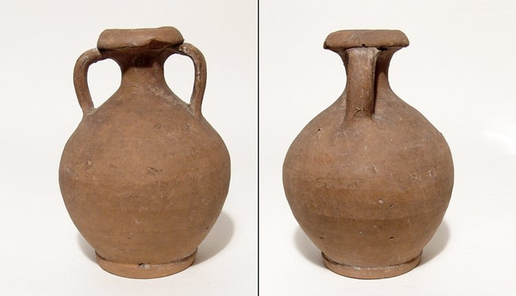 Roman two handled jug, 3rd - 4th Century AD