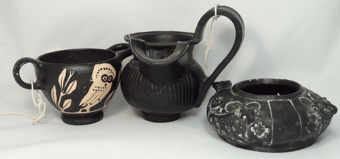 A lot of 3 composite pottery museum replicas