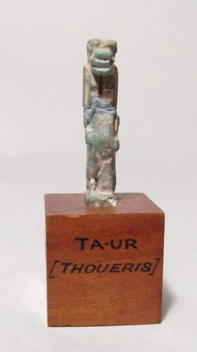 An Egyptian faience amulet of the goddess Taweret